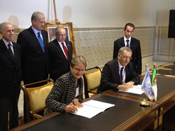 UNITAR ED signs agreement with Algeria Space Agency Director under auspices of PM Sellal