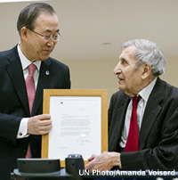 UN Secretary General with Mr. Jean Gazarian