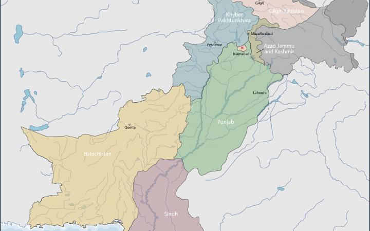 Map over Pakistan