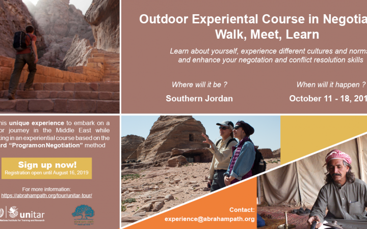 OUTDOOR EXPERIENTIAL COURSE IN NEGOTIATION IN SOUTHERN JORDAN
