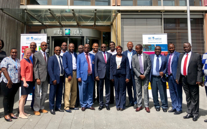 "H.E. Dr. Cleopa Kilonzo Mailu, Permanent Representative of the Republic of Kenya visits UNITAR training on ""Parliamentary Monitoring and Oversight of Sustainable Development Goals"""