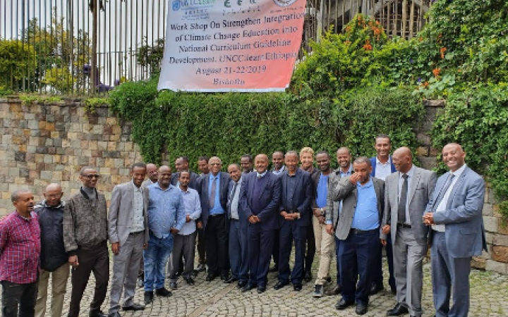 Experts from the EFCCC and Curriculum Development and Implementation Directorate (Ministry of Education) with at the first consultative workshop in August 2019, Bishoftu, Ethiopia.