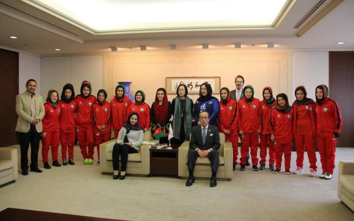Setting goals with the Afghanistan National Soccer Team