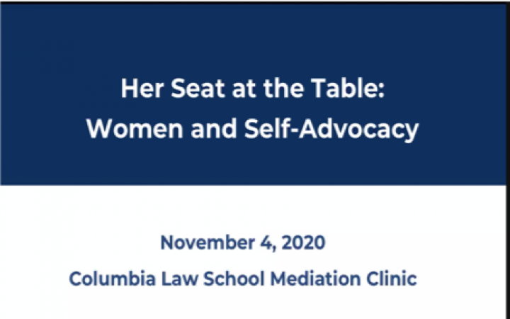 Columbia Law School Mediation Clinic