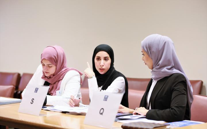 Qatar Diplomats at the Induction Course