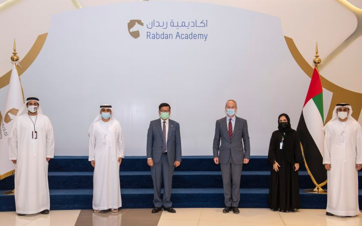 Rabdan Academy and the United Nations Institute for Training and Research representatives