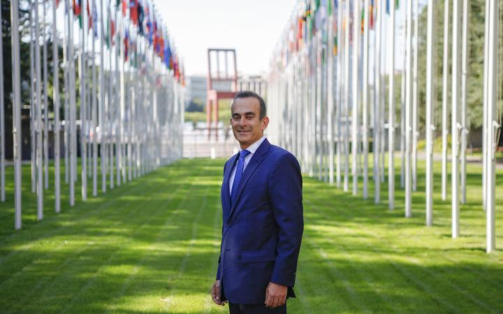 Mr. El-Haddad at the Palais des Nations