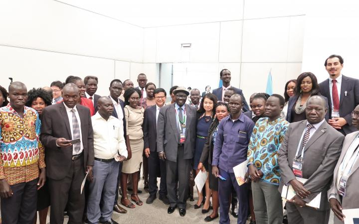 UNITAR South Sudan Fellowship Participants with the Vice President of South Sudan