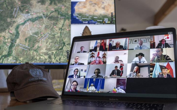 Members of the Security Council hold an open video conference in connection with the situation in Mali and the United Nations Multidimensional Integrated Stabilization Mission in Mali (MINUSMA).