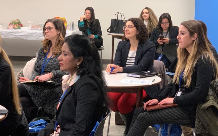 Professor Gohar Petrossian, Assistant Professor in the Department of Criminal Justice at CUNY - John Jay College of Criminal Justice, working alongside a cohort of Trainees selected from the John Jay College of Criminal Justice Master's programme