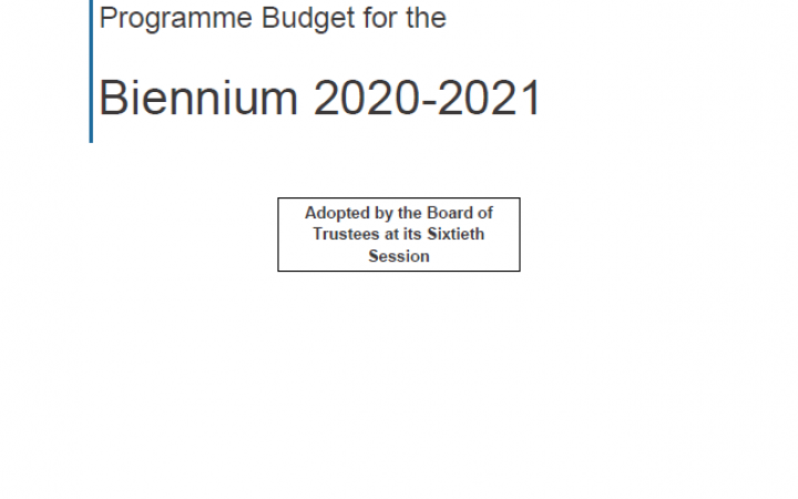 Programme Budget for 2020-2021