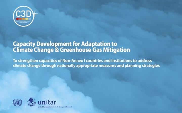 Brochure on Capacity Development for Adaptation to Climate Change & Greenhouse Gas Mitigation (C3D+)