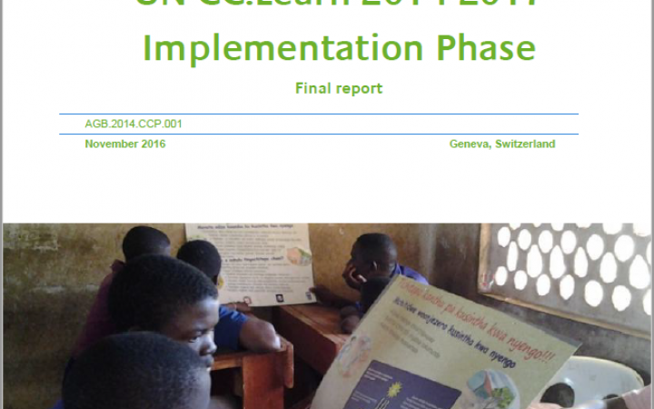 Mid-term evaluation of the UN CC:Learn 2014-2017 Implementation Phase