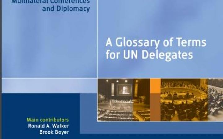 UNITAR Glossary of Terms