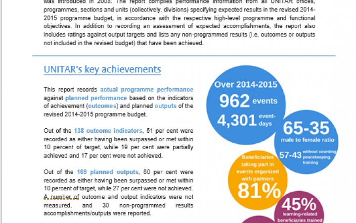 Summary of the 2014-2015 Report
