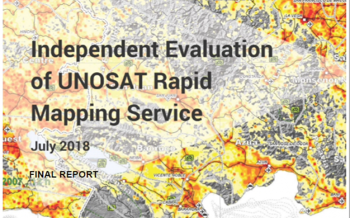 Independent Evaluation of the UNOSAT Rapid Mapping Service
