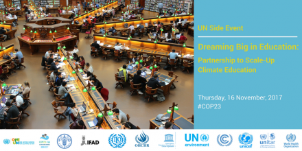 UN Side Event on Dreaming Big in Climate Education