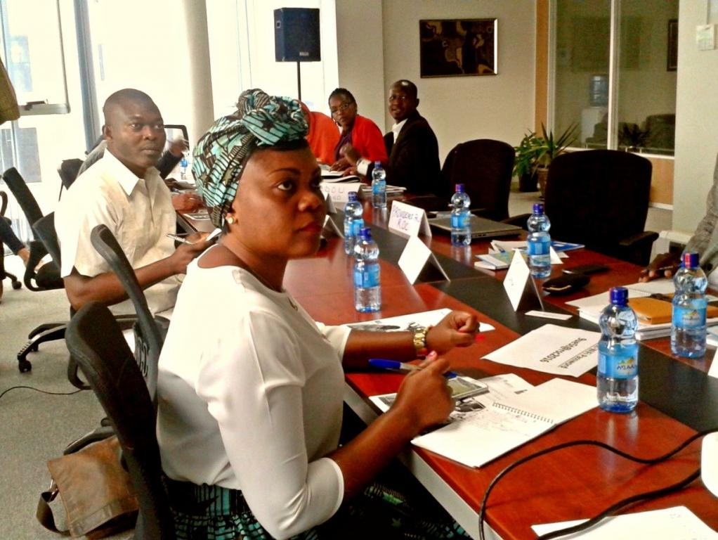 Francophone negotiators during the first sessions of the training held in French