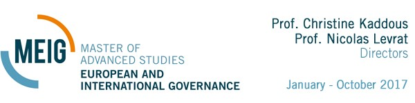 Master of Advanced Studies in European and International Governance