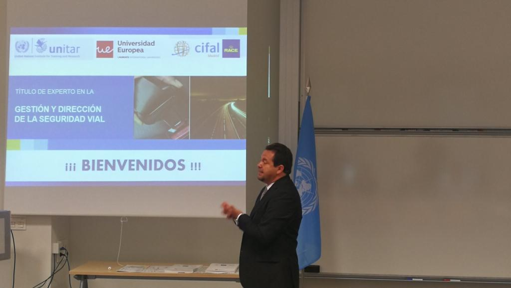 Director of CIFAL Quito from Ecuador Mr. Edwin Mino during the inauguration of the Course