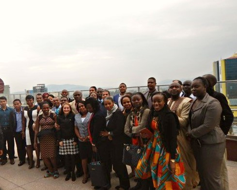 Group photo with Anglophone and Francophone participants