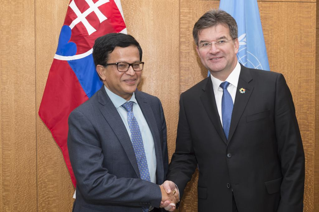 UNITAR Executive Director meets with President of the 72nd Session of the General Assembly Miroslav Lajčák