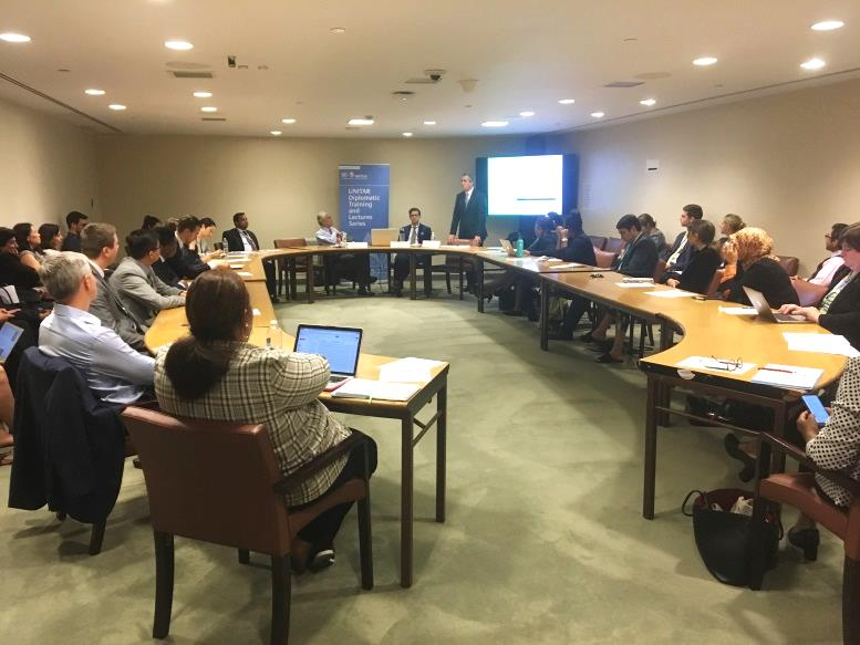 UNITAR delivers workshop on Climate Change and the Paris Agreement.