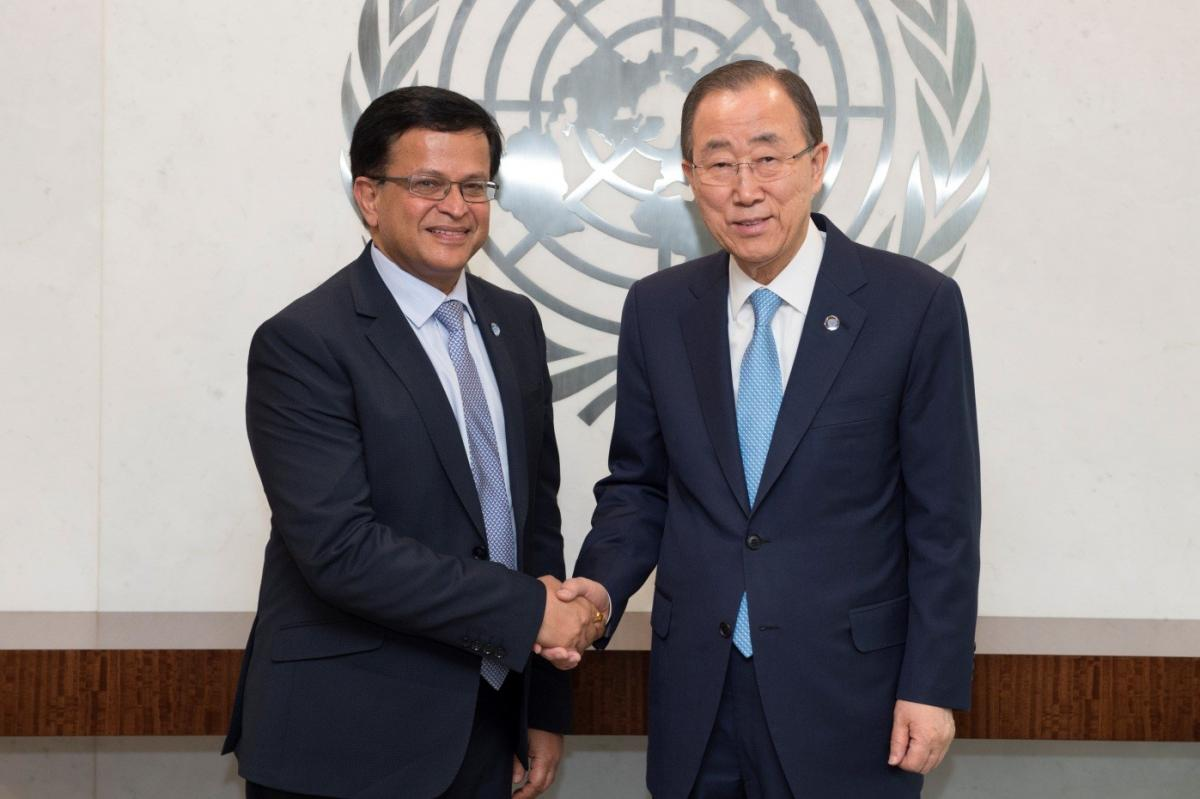 Mr. Nikhil Seth and the United Nations Secretary-General , Mr. Ban Ki-moon