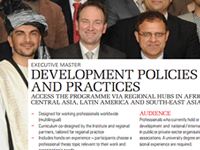 Executive Master's in Development Policies and Practices