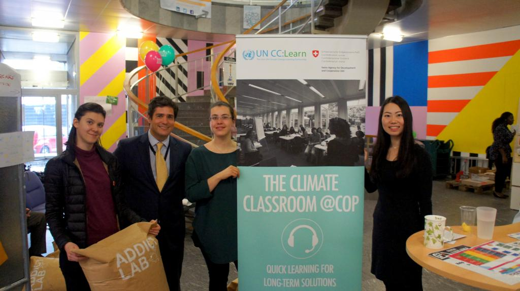 UNITAR's Climate Classroom Team: Elena, Marcio, Cristina and Junko (Left to Right).