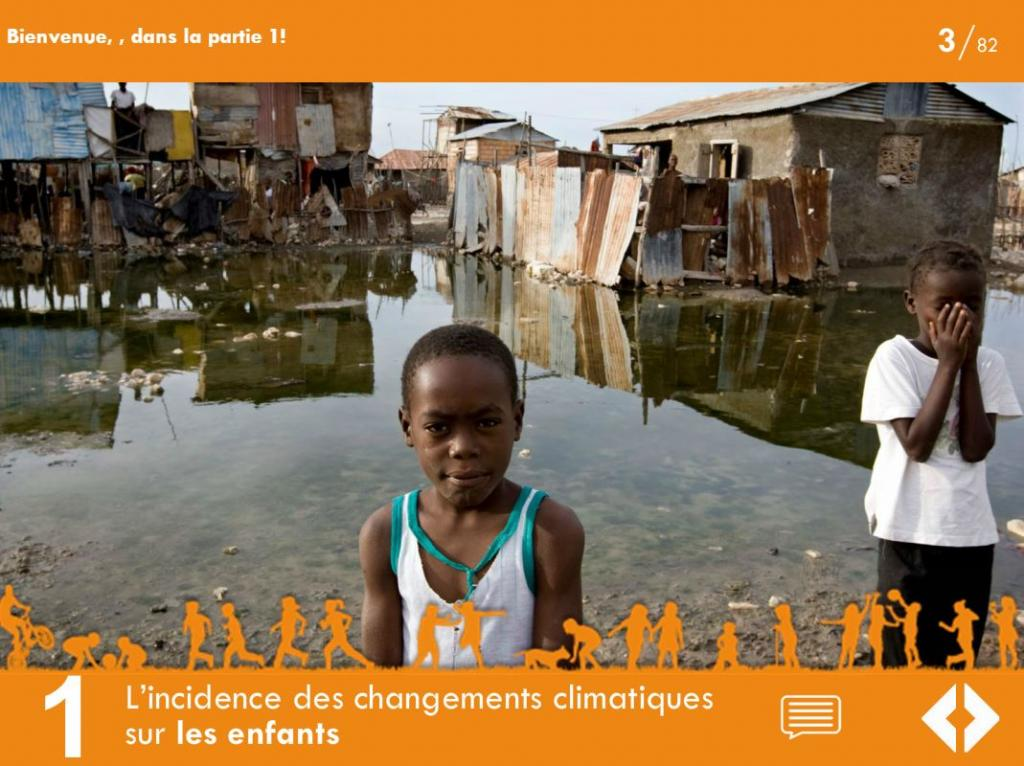 Module 1 of the Specialized e-Learning Module on Children and Climate Change in French.