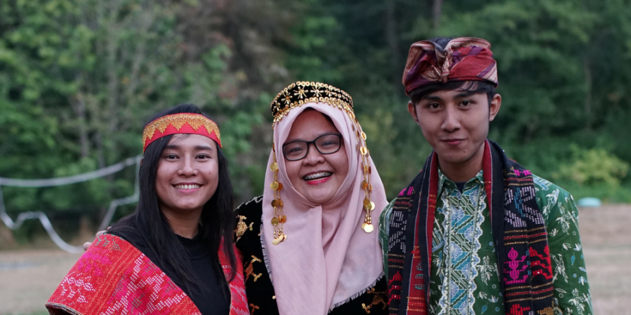 From the left: Ms. Saraswati, Ms. Sukma Impian Riverningtyas and Mr. Aditya Pradana