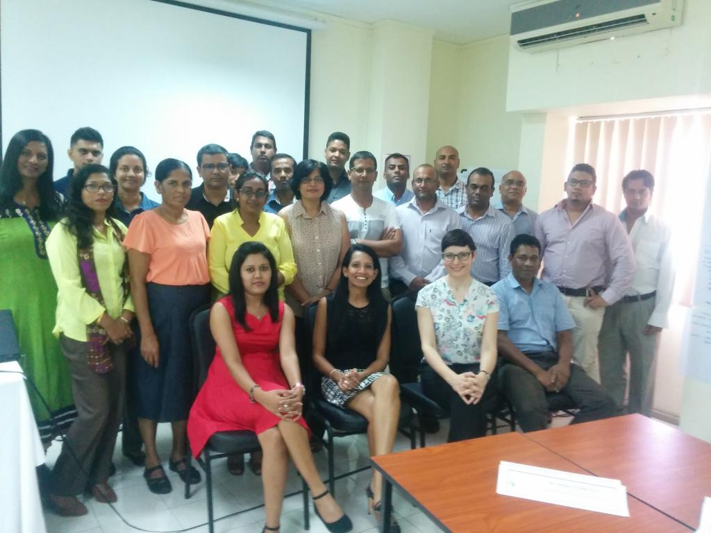 Raising Awareness and Building Capacities in Mauritius - participants group photo