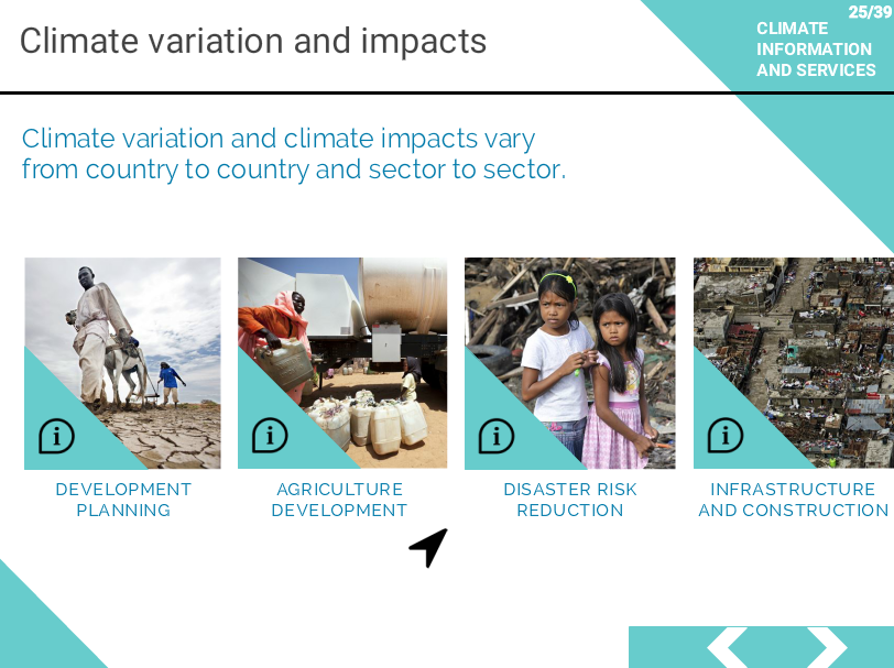 "UN CC:Learn e-tutorial on ""Climate Information and Services"" module"