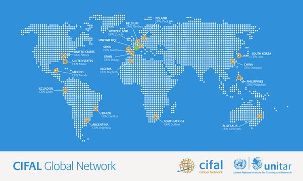 CIFAL map 2018