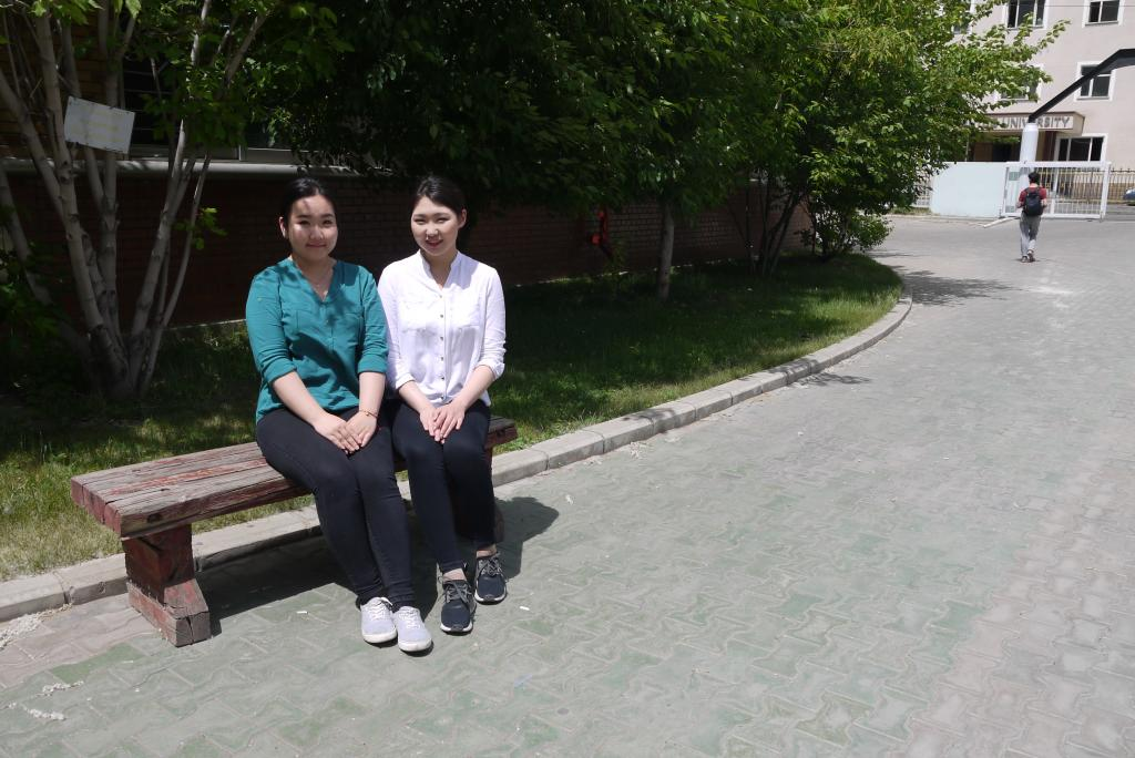 Photo 1: Students at the National University of Mongolia.