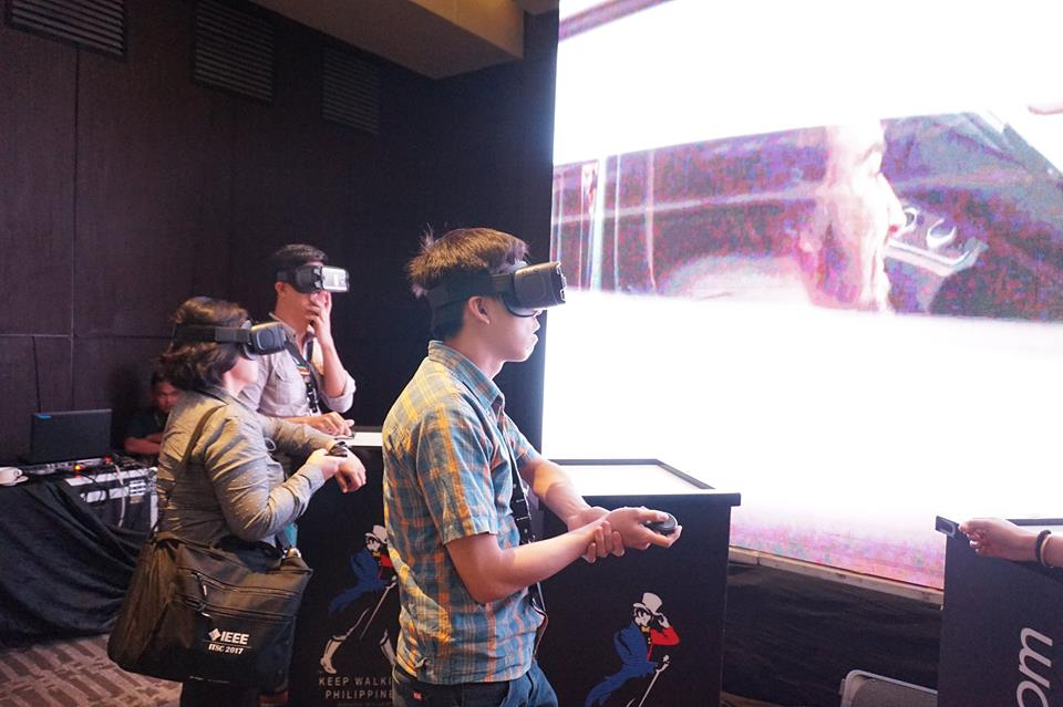 Participants during a Virtual Reality Exercise
